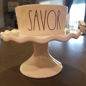 Rae Dunn SAVOR pet bowl